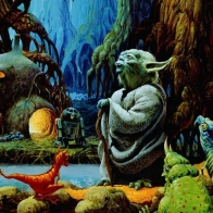 Star Wars Yoda Dagoba Wallpaper