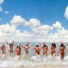 Download summer santa girls, summer santa girls Free Wallpaper download for Desktop, PC, Laptop. summer santa girls HD Wallpapers, High Definition Quality Wallpapers of summer santa girls.