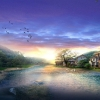 sunrise in digital japan,nature landscape Wallpapers, nature landscape Wallpaper for Desktop, PC, Laptop. nature landscape Wallpapers HD Wallpapers, High Definition Quality Wallpapers of nature landscape Wallpapers.