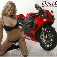 Superbike Girl Wallpaper