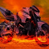 Suzuki B King Hell Bike Wallpaper