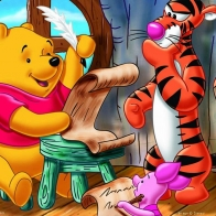 Teacher Pooh Tigger Wallpaper