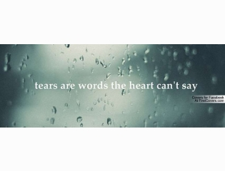 Tears Are Words Cover