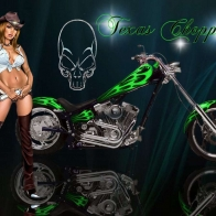 Texas Chopper Wallpaper