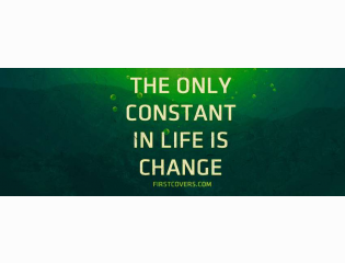 The Only Constant In Life Cover