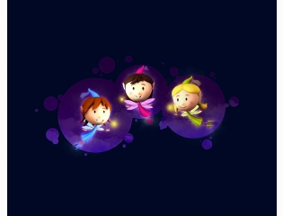 Three Fairies Wallpaper