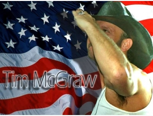 Tim Mcgraw Us Flag Wallpaper