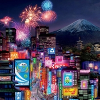 Tokyo City In Cars 2 Wallpapers
