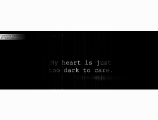 Too Dark To Care Cover