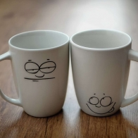 Two Cups Smiley Face