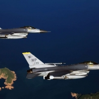 Two F 16 Fighting Falcon Aircrafts Wallpapers