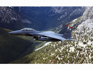 Us Military Plane Over Hills Wallpapers