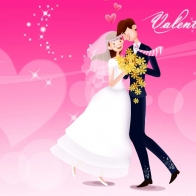 Valentine's Day Wedding Wallpaper