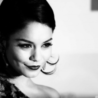 Vanessa Hudgens Black And White Wallpaper