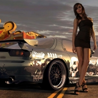 Vehicles Girls And Cars Wallpaper