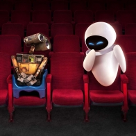 Wall E And Eve In Theater Wallpapers