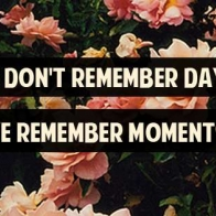 We Dont Remember Days Cover