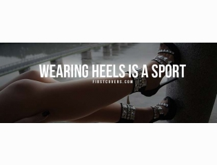 Wearing Heels Is A Sport Cover