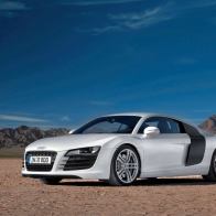 White Audi Car Wallpaper