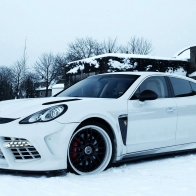 White Porsche In Snow Wallpaper
