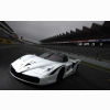 White Racing Car Wallpaper