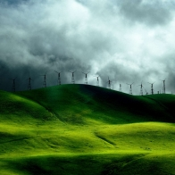 Wind Turbine Fields Wallpapers