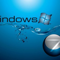 Windows 7 In Water Flow Wallpapers