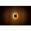 Wooden Glow Of Apple Wallpapers