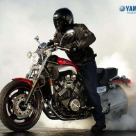 Yamaha V Max Burn Wallpaper
