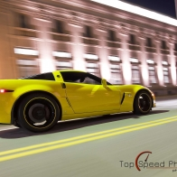 Yellow 2009 Chevrolet Corvette C6 Z06 Wallpaper