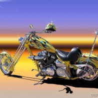 Yellow Chopper Wallpaper