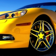 Yellow Corvette Wallpaper