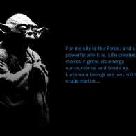 Yoda And The Force Wallpaper