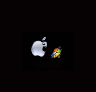 apple vs windows 7 wallpapers