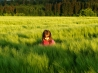 children in green grass