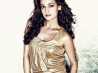 diya mirza in gold dress