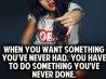 do something youve never done cover