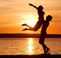 download couple at sea sunset wide hd wallpapers