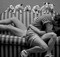 download romance couples on sofa hd wallpapers
