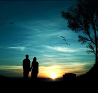 download sunset couple hd wallpapers