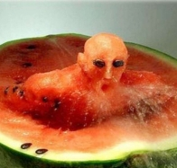 fruits watermelons swimming wallpapers