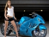 girl and suzuki gsx1300r