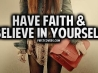 have faith and believe in yourself cover