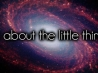 its about the little things cover