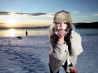 Nicole Mckenzie Playing With Snow Wallpaper