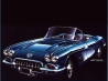 old blue car touraille wallpaper