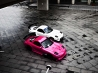 pink and white cars wallpaper