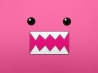 pink domo face cover