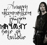 profile aragorn with fonts wallpaper