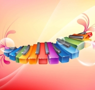 rhythmic colorful piano wallpapers